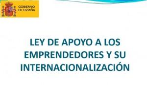 Nueva Ley de Apoyo al Emprendedor y a su Internacionalización